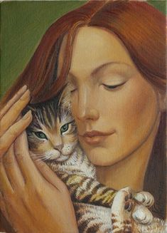 Nelly Tsenova - Нели Ценова Nelly Tsenova was born in 1961 in Plovdiv, Bulgaria Art And Illustration, Cat Illustrations, Crazy Cat Lady, Crazy Cats, Image Chat, Cat People, Cat Drawing, Beautiful Cats, I Love Cats