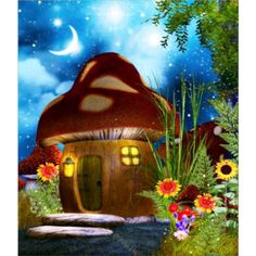 Fairy Mushroom House Tubes, the perfect place for your faes and other fantasy characters. Create a whimsical fantasy scene with these adorable fae homes. Mushroom House, Mushroom Art, Fantasy Kunst, Fantasy Art, Fantasy House, Art Fantaisiste, Fantasy Landscape, Fairy Art, Magical Creatures