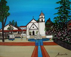 Mission San Buenaventura California. #prisarts #painting #church