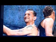 Dave Gahan & Martin Gore close up clip during Depeche Mode  Precious in Berlin, so cute they are!