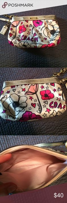 New without tags coach poppy wristlet Never used zero signs of use or wear inside or outside . Coach brand poppy line Coach Accessories