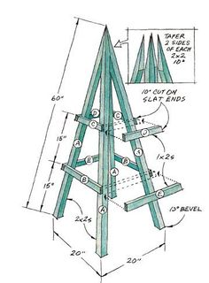 Plan for a simple obelisk- add finial on top and put over electrical box out front.