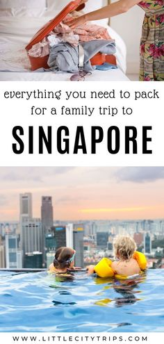 When choosing what to pack for Singapore, remember the weather is hot and humid all year round. Singapore With Kids, Singapore Guide, Singapore Travel, Vietnam Travel, Asia Travel, Travel With Kids, Family Travel, Packing Lists, Travel Packing