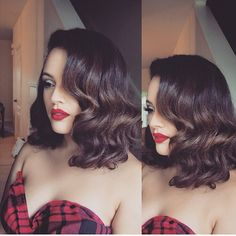 Short glamorous vintage waves Styled by @andrewzaddyyy #Hairinspo #Hairideas…