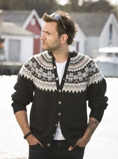 Strikkemekka.no - 1709-5 Fryd kofte herre Men Sweater, Mens Fashion, Sewing, Knitting, My Love, Sweaters, Cardigans, Crochet, Boys