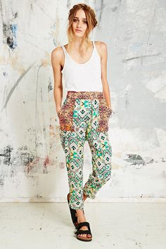 Native Rose Contrast Patch Trousers