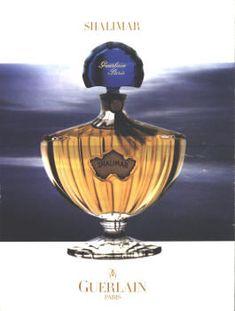 Shalimar by Guerlain. Perfume Ad, Perfume Bottles, Shalimar Guerlain, Oriental, Exotic, Christmas Ornaments, Holiday Decor, Fragrances, Posters