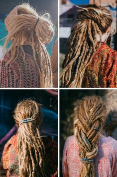 Dreadlock Hairstyles for girl. Moutnain Dreads blog | Search for Dreadlock Beads, Natural Dread Care and Dreadlock Accessories - Dread INspiration #blondedreads #dreadlocks #dreads #dreadlockhairstyles #mountaindreads