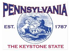 Pennsylvania's nickname is The Keystone State because it was the middle colony of the original 13 colonies & it has held a key position in the economic, social, & political development of the USt. A keystone is a wedge-shaped piece at the crown of an arch that locks the other pieces in place, a stone on which the associated stones depend for support. Pennsylvania played a vital tole in holding together the state of the newly-formed Union.