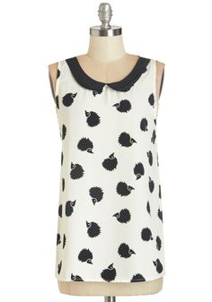 Classy Collector Top in Hedgehog, @ModCloth