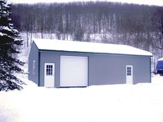 """Building Dimensions: 30' W x 40' L x 10' 4"""" H (ID# 304)  Visit: http://pioneerpolebuildings.com/portfolio/project/30-w-x-40-l-x-10-4-h-id-304-total-cost-12093  Like Us on Facebook! www.facebook.com/... Call: 888-448-2505 for any questions!"""