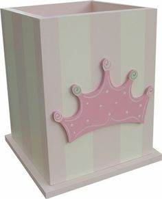 Princess Crown Wastebasket and decor at Jack and Jill Boutique