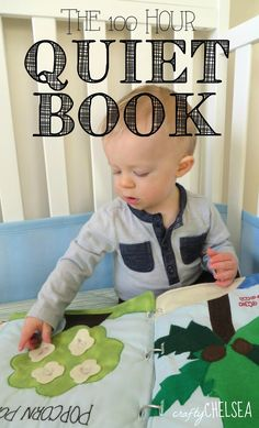 Seriously one of the cutest busy books I've ever seen. Full of great ideas for texture and variety for your little one or a gift. Via Crafty Chelsea: Little J's Quiet Book: AKA The 100 Hour Quiet Book