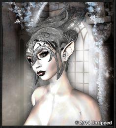 Fantasy Elf Helm Silver