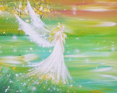 "Limited angel art photo ""I go everywhere with you"" ,modern angel painting, artwork,ideal also for picture frame, gift,spiritual,magic,mystic"