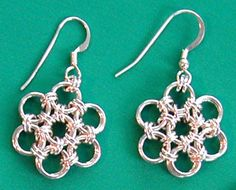 Japanese Flower Earrings. Tutorial