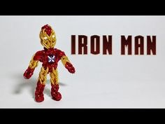 Rainbow Loom Avengers Series: IRON MAN. Designed and loomed by PG's Loomacy. Click photo for YouTube tutorial. 04/07/14