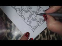 How to draw CROMER tangle pattern? - YouTube