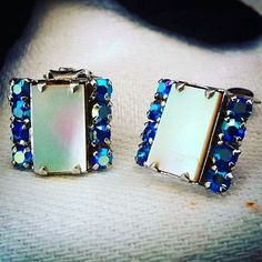Reposting @mrsbakersvintagelife: Blue Aurora Borealis Crystal and Mother of Clip On Earrings http://crwd.fr/2xSOqgQ #etsy #etsyvintage #vintageetsy #earrings #jewelry #etsyshop #1950s #vintage #vintagejewelry