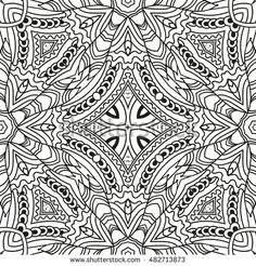 Square Zentangle For Coloring Book Pages Mandala Design Zen Ornament Lace Pattern