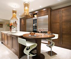 Dark Wood Modern Kitchen - Walnut Kitchen Cabinets - Bespoke Kitchen