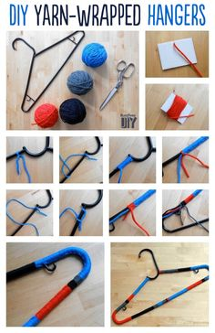 Bloque de color del hilado de la suspensión | 14 Adorable Ways To Decorate Your Clothing Hangers