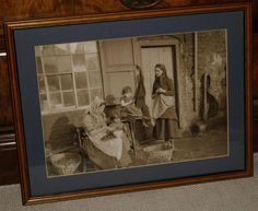 Frank M Sutcliffe Large Framed Photograph/Print Whitby  Opening Mussels  c1880 s