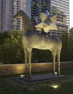 Zenit - sculpture by Mimmo Paladino in Citygarden, an urban oasis in downtown St. Louis.