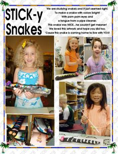 SNAKES Get Meaning, Kindergarten Science, Coming Home, Snakes, Lettering, Fun, Color, Colour, A Snake