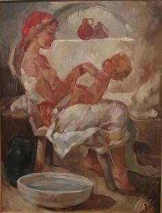 Bilderesultat for charles roka Mother And Child Reunion, Vintage Bathtub, Beauty In Art, Classic Artwork, Mary Cassatt, Call Art, Mothers Love, Beautiful Paintings, Love Art