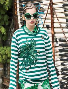 bam-ba bam-ba: Agustina Benvenuto by Santiago Ruisenor for Elle Mexico June 2016 - Dolce&Gabbana Pre-Fall 2016