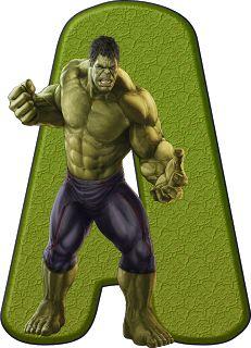 Alfabeto Decorativo: Alfabeto - Hulk 2 - PNG - Letras - Maiúsculas - DO...