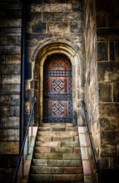 Doorway, Lund Cathedral, Lund, Scania, Sweden.  First built in 1023 AD.