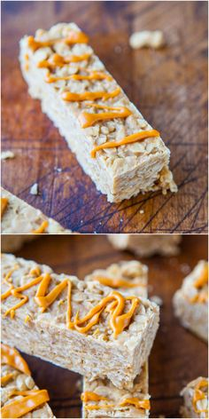 Peanut Butter Oatmeal Cookie Granola Bars (no-bake, vegan, gluten-free) - Healthy granola bars that taste like cookies and so fast & easy!