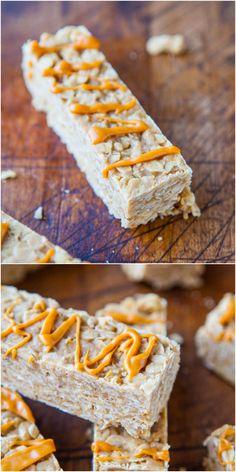Peanut Butter Oatmeal Cookie Granola Bars (no-bake, vegan, gluten-free) - Healthy granola bars that taste like cookies!