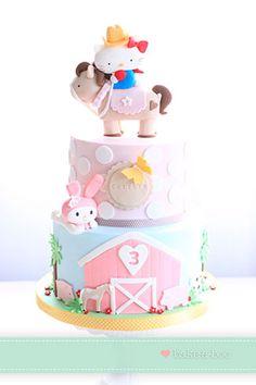 Sweet Hello Kitty Cake by Bake-A-Boo.com!