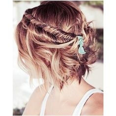 10 Braids That Look Amazing on Short Hair ❤ liked on Polyvore featuring hair