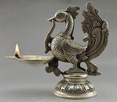 Aliexpress.com: Compre Rare Decorado Old Handwork Tibet Prata Esculpida Phoenix Grande Vara Da Vela para Decoração de Jardim 100% Tibetano prata Bronze de confiança vela bola fornecedores em li peng 58168