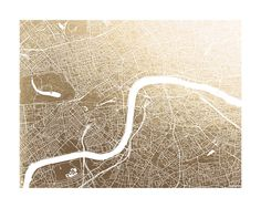 London Map Foil-Pressed Art Print by Alex Elko Design | Minted