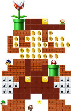 Super Mario Maker - Sprite Mario Art