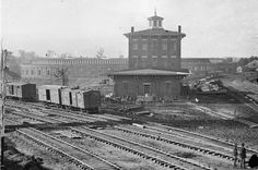 Atlanta's railroad roundhouse..destroyed during Civil War