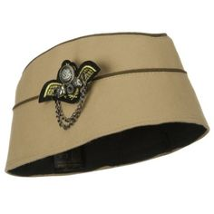 94638179a7c32 Ladies Airline Stewardess WWII Military Style Fashion Hat w Pin BEIGE --  Want additional info