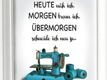 Kunstdruck A4 Nähmaschine