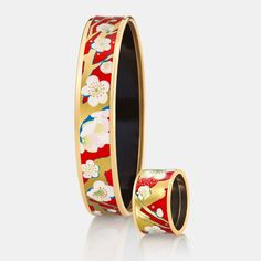 Celebrating Spring days with intensely coloured fire-enamel straight from our Viennese enamel workshop. Vincent Van Gogh, Spring Day, Cuff Bracelets, Workshop, Enamel, Vans, Fire, Jewels, Classic