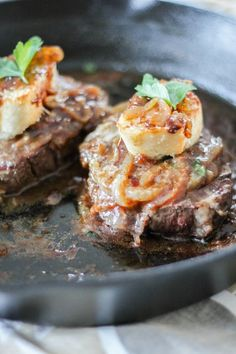 French Onion Filet Mignon | The Chef Next Door #SundaySupper