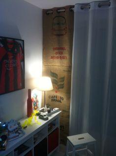 rideaux fait en sac de toile de jute de café : Textiles et tapis par nicecoffeesac