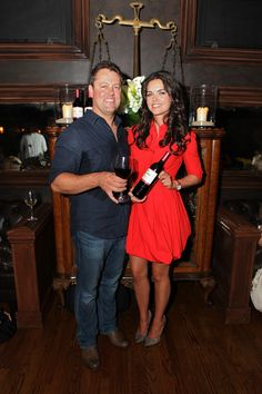 Clos du Bois winemaker Gary Sitton and Katie Lee at the Clos du Bois #Rouge launch in Chicago