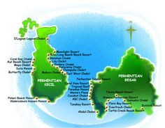 Accommodation Map of Perhentian Islands