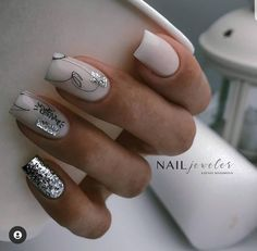 Square Nail Designs, Gel Nail Designs, Nails Design, Acrylic Nails Nude, Gel Nails, Basic Nails, Simple Nails, Short Square Nails, Garra
