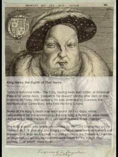 The death of King Henry VIII